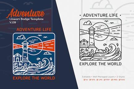 Adventure Monoline Logo Badge Template V.09