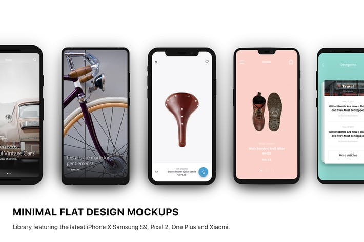 Thumbnail for Minimal Flat Design Mockup