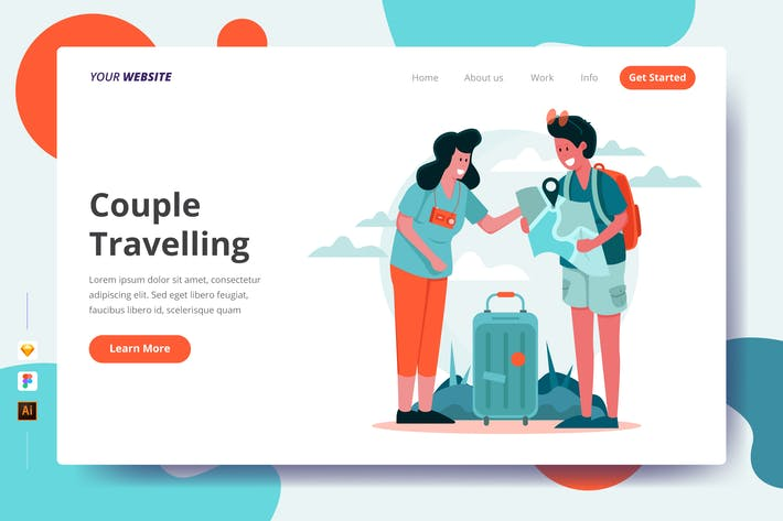 Thumbnail for Couple Travelling - Landing Page
