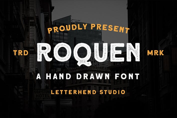 Thumbnail for Roquen - A Mano Drawn Typeface