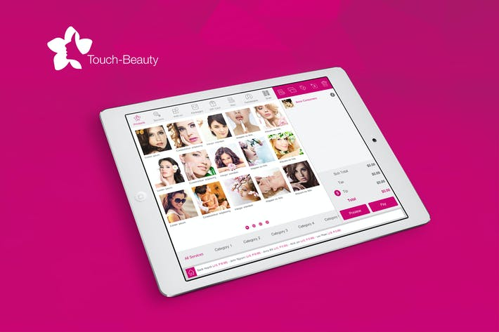 Thumbnail for Touch Beauty UI kit
