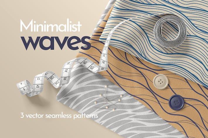 Thumbnail for Minimalist Waves Seamless Patterns