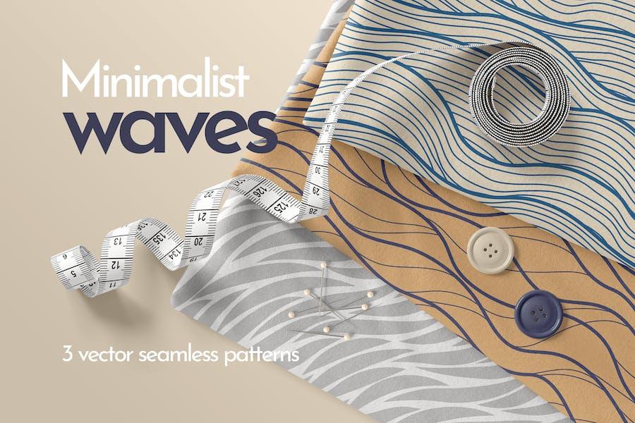 Minimalistische Wellen Nahtlose Muster