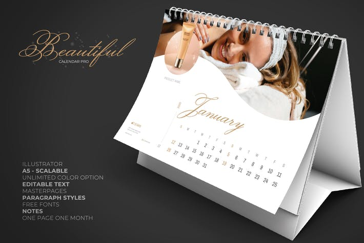 Cover Image For 2020 Beauty Creative Calendar Pro