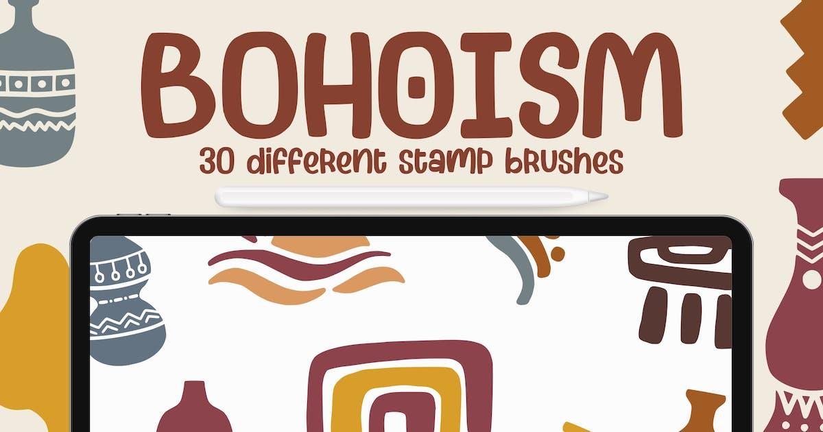 Download Bohoism - Procreate Stamp Brush by garisman