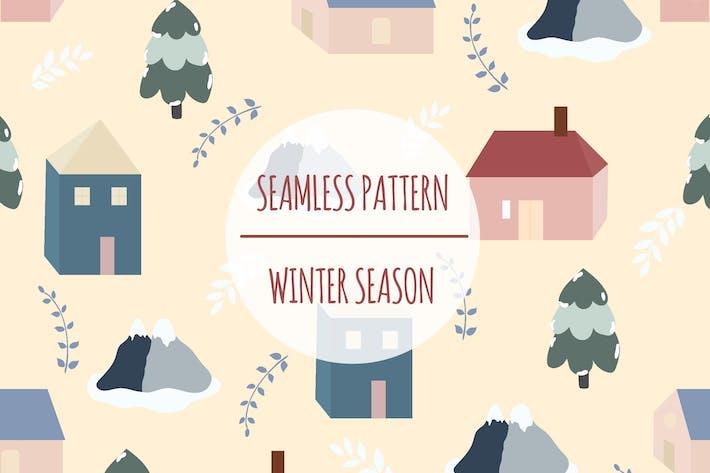 Winter Season – Seamless Pattern
