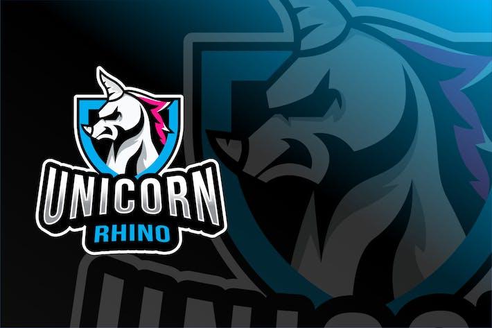 Thumbnail for Unicorn Rhino Esport Logo Template