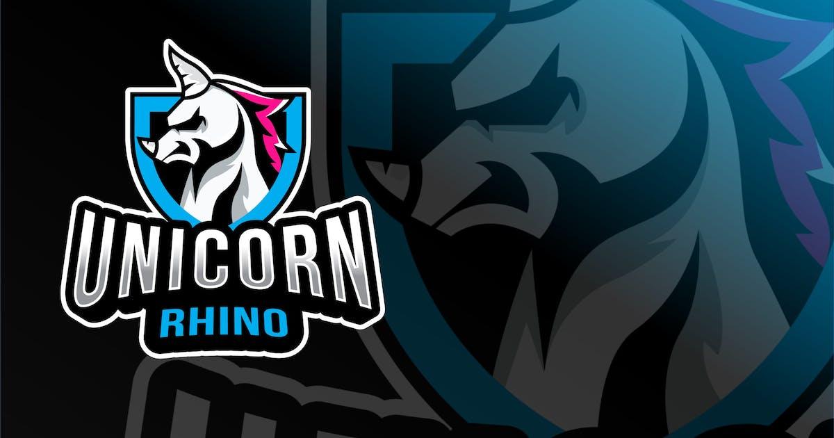 Download Unicorn Rhino Esport Logo Template by IanMikraz