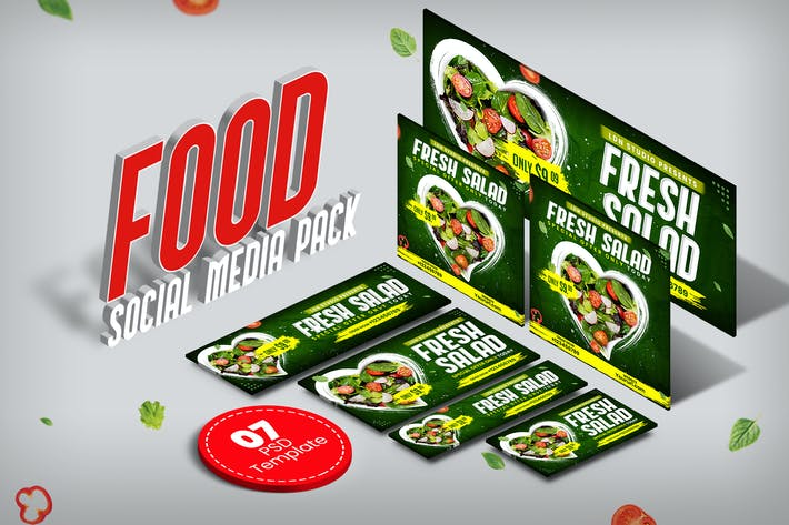 Thumbnail for Food social media pack