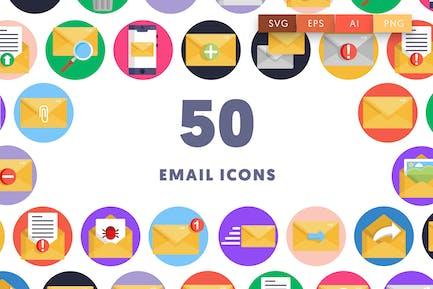 50 Íconos de correo electrónico