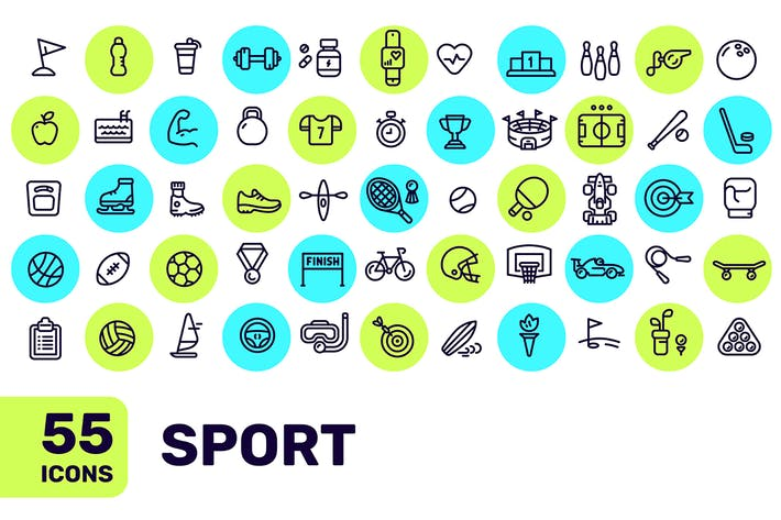 Thumbnail for Set of sports icons