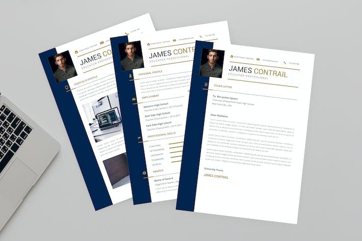 Thumbnail for Educator Resume Designer
