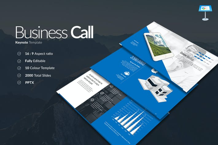 Thumbnail for Business Call Keynote Template
