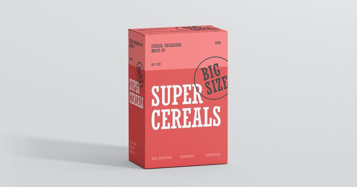 Cereals Box Mockup - Big Size by visconbiz