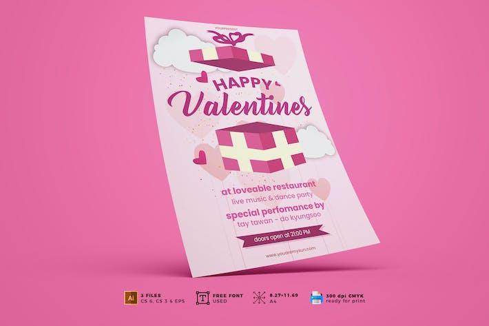 Valentine's Day Flyer Template Vol. 05