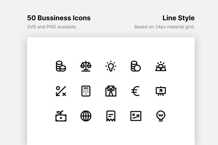 Thumbnail for Business and Finance Line Icons