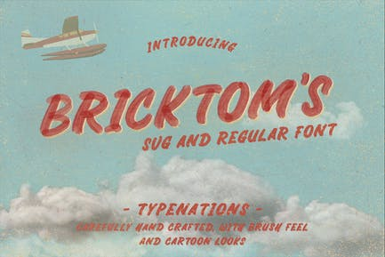 Bricktoms SVG & Regular Font
