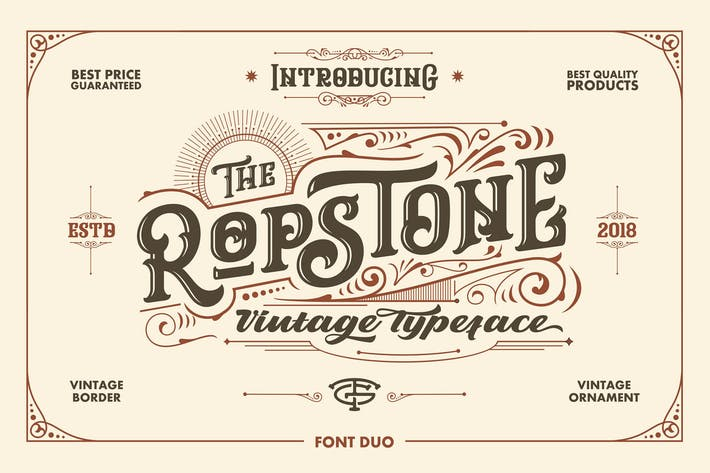 Thumbnail for Ropstone Typeface