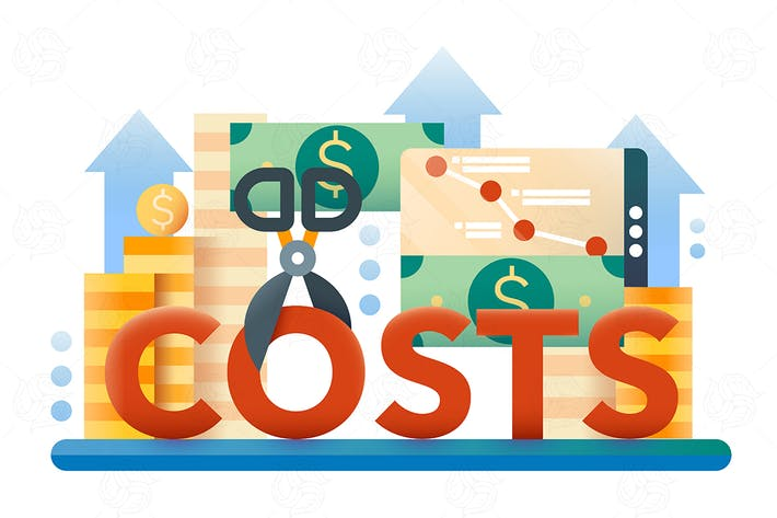 Thumbnail for Reduce Costs - flat design illustration