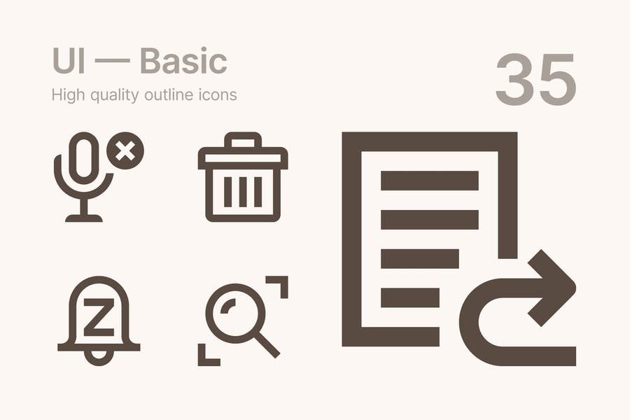 UI — Basic icons