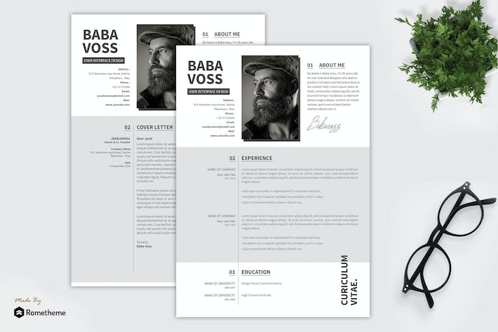 Thumbnail for Minimalist Resume - Baba Voss YR