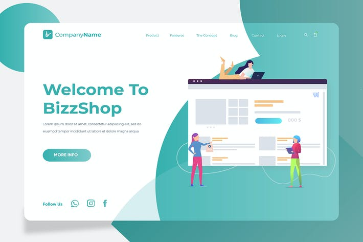 Thumbnail for Shop - Banner & Landing Page