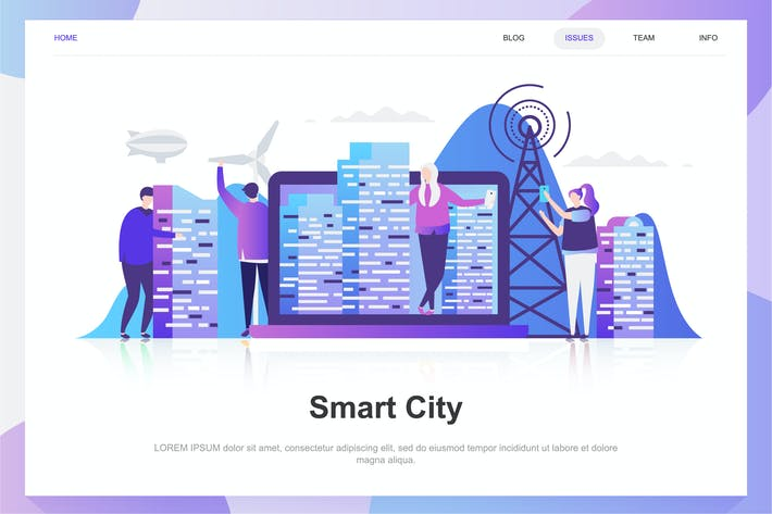 Thumbnail for Smart City Flat Concept