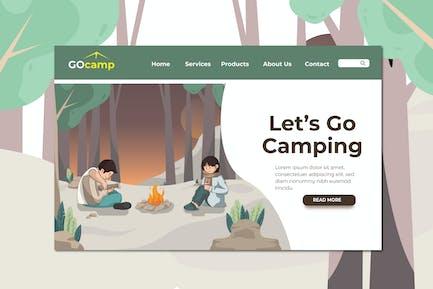 Camping Landing Page Illustration