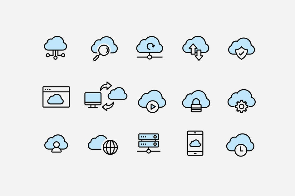 Download 15 Cloud Computing Icons by creativevip