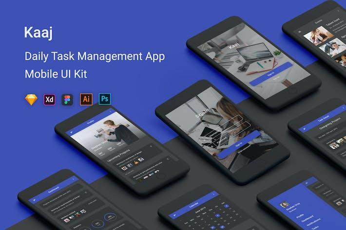 Thumbnail for Kaaj - Daily Task Management UI Kit