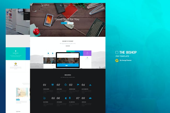 Thumbnail for Bishop - MultiPurpose PSD Template