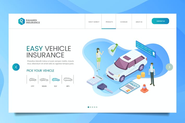 Thumbnail for Car Insurance Web Header PSD & Vector Temp Vol. 01