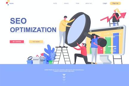 Modèle de page d'accueil Optimisation SEO