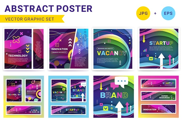 Thumbnail for Abstract posters