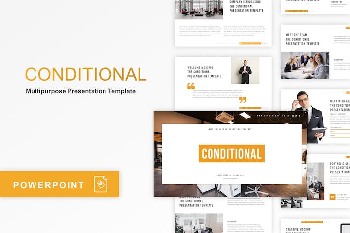 Thumbnail for Conditional - Multipurpose PowerPoint Template
