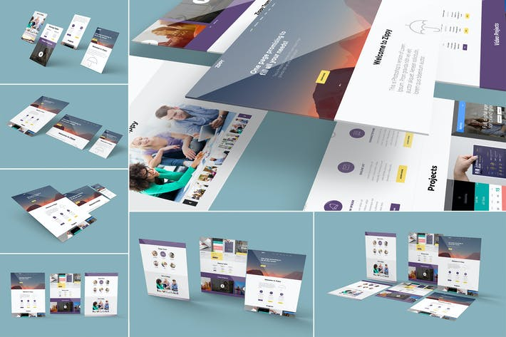Thumbnail for 7 Website Mockups