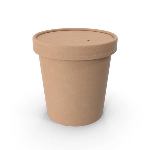 Крафт-бумага Food Cup с вентилируемой крышкой одноразовое ведро для мороженого 16 унций 450 мл