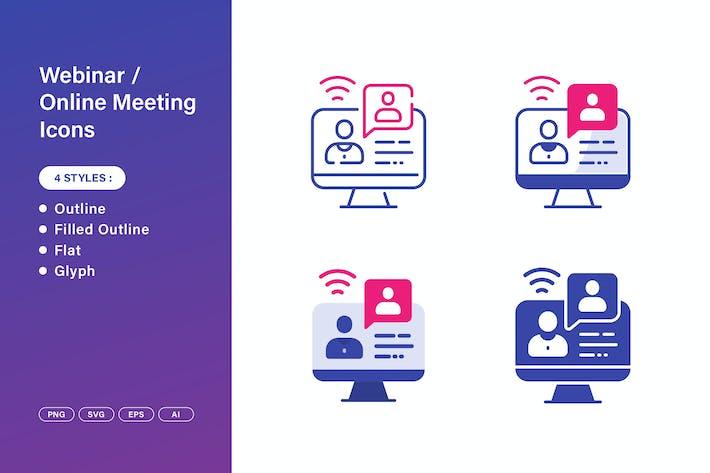 Webinar - Icons für Online-Meetings