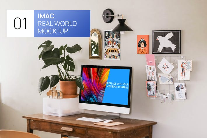 Thumbnail for iMac 27 Bright Interior Real World Mock-up