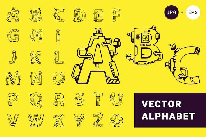 Techno Alphabet