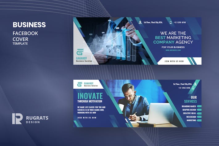 Thumbnail for Business R11 Facebook Cover Template