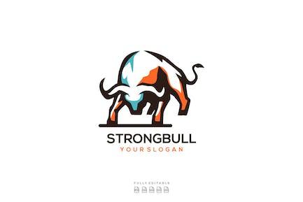 Abstract Buffalo Bull