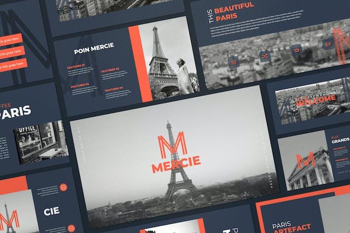 Thumbnail for Mercie - Minimal Business Keynote