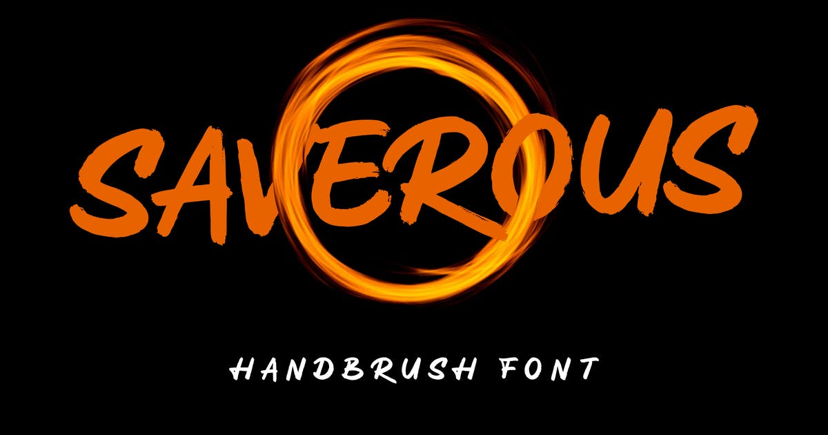Download Saverous - Cute and Horror Typeface by deemakdaksinas