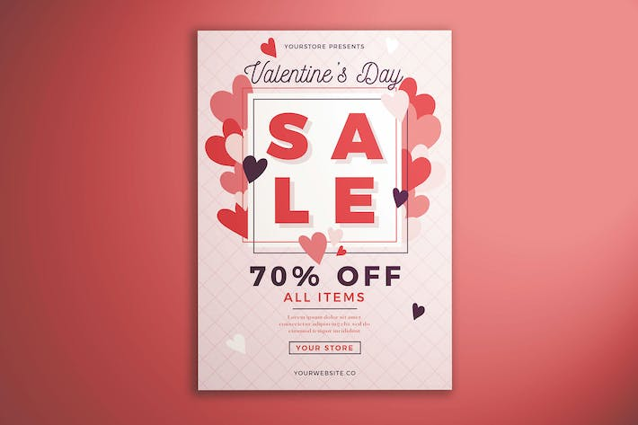 Thumbnail for Valentine's Day Sale Flyer Vol. 01
