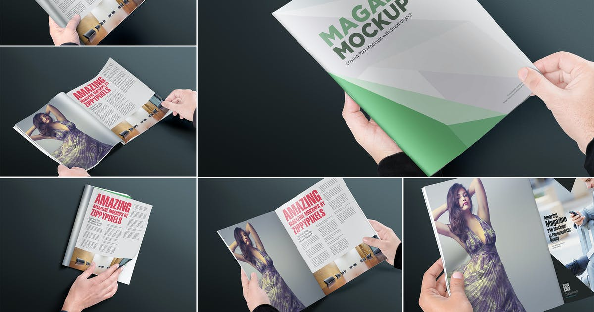 Download Magazine Mockups by zippypixels