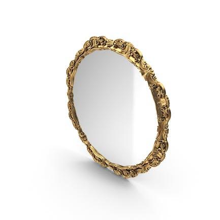 Round Mirror Golden