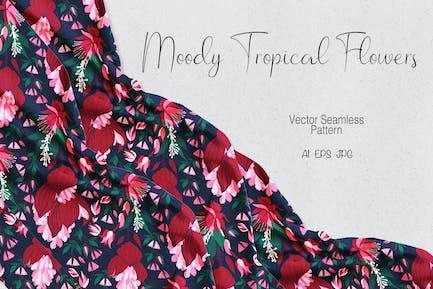 Moody Tropical Flowers