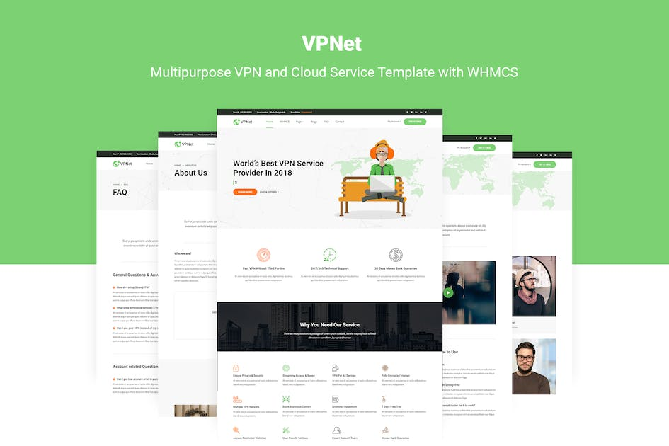 Download VPNet - VPN and Cloud Service Template with WHMCS by themelooks