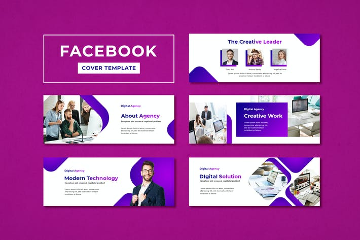 Thumbnail for Facebook Cover Template Digital Agency
